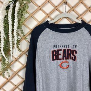 Chicago Bear Football Raglan Sleeve Long Tee
